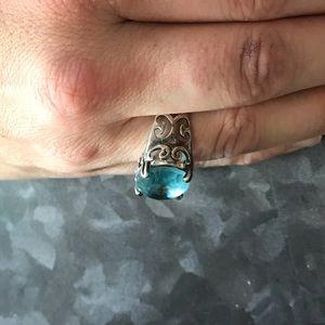 Silpada Jewelry - Silpada sterling silver and blue topaz ring size 9